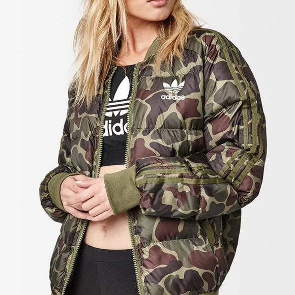 exclusive deals the sale of shoes latest discount adidas Hu Hiking SST Pure Camo Bomber Jacket NWT